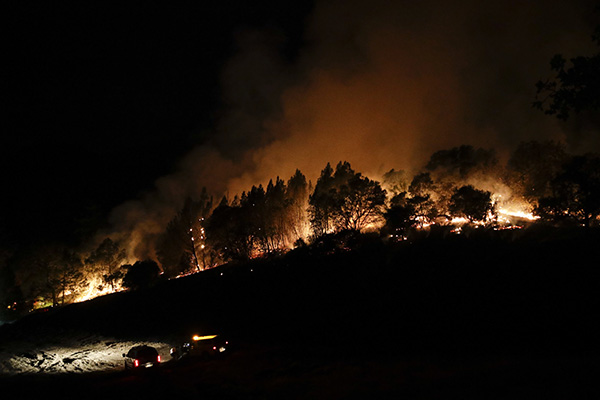 The Rampage of California Wildfire