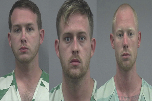The three men charged with the shooting