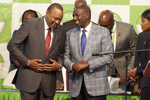 Kenyatta Accepting his Win
