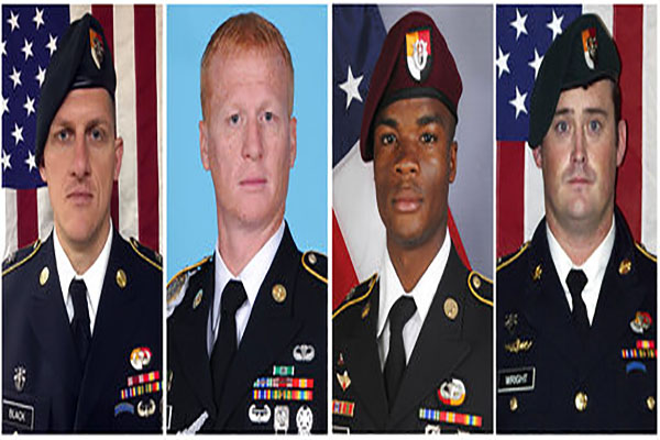 The four soldiers killed in NIger