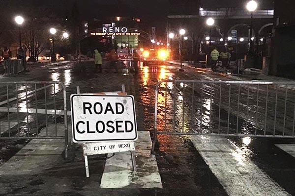 Reno Road Closed