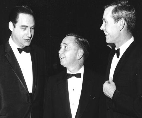 0. Carl_Albert_speaking_with_Sid_Caesar_and_Johnny_Carson by Carl Albert Research and Studies Center, Congressional Collection via Wikimedia Commons