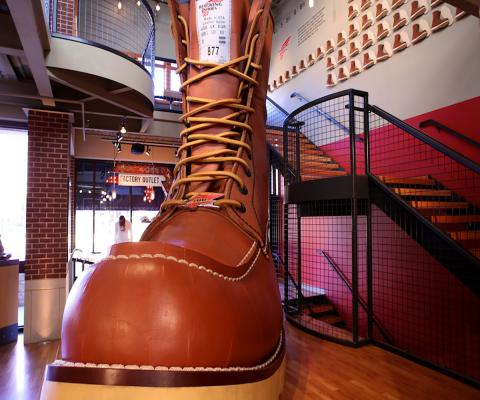 Red Wing Shoe by Axiom71 via Wikimedia Commons