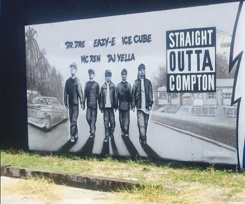 Wynwood Mural of NWA by Premeditated via Wikimedia Commons