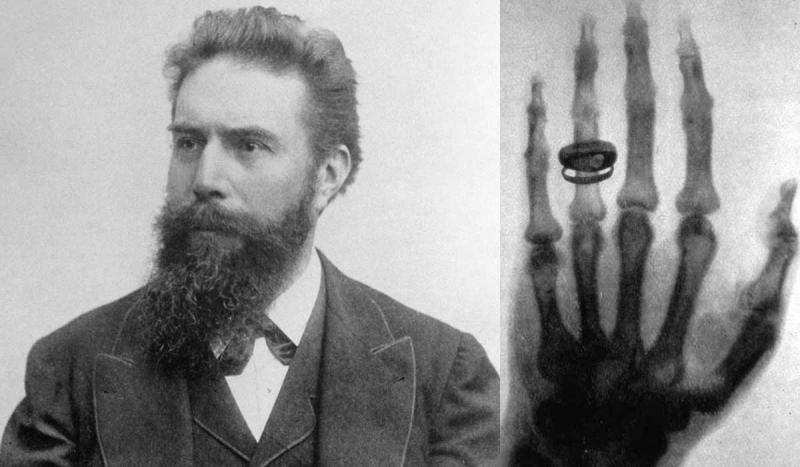 A German newspaper reported German physicist Wilhelm Roentgen's discovery of X-rays.
