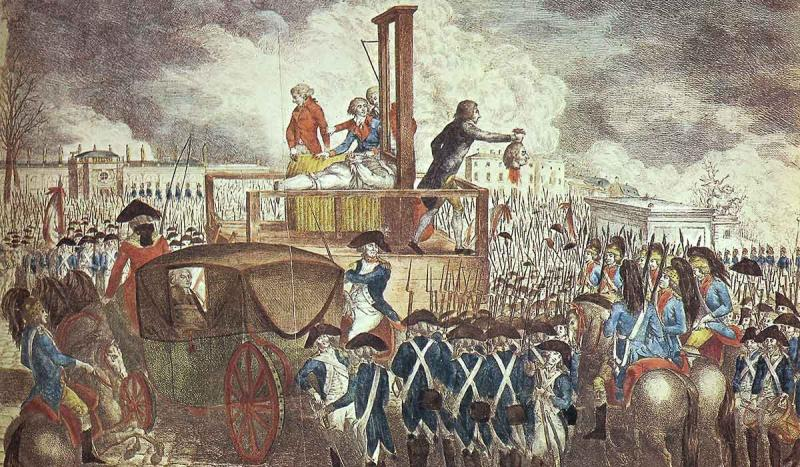 King Louis XVI was guillotined for treason.
