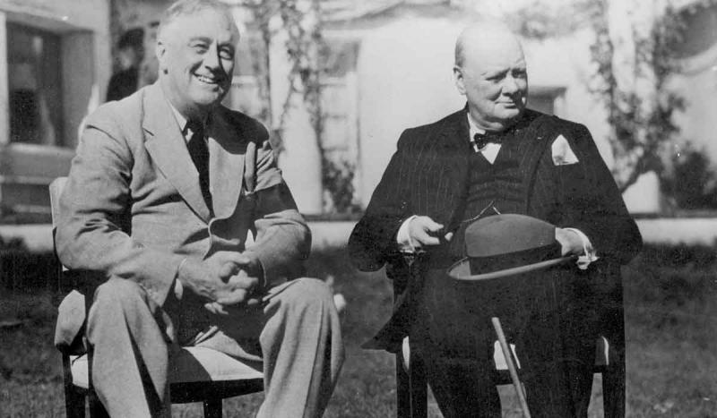 The Casablanca Conference with Franklin D. Roosevelt and Winston Churchill concluded.
