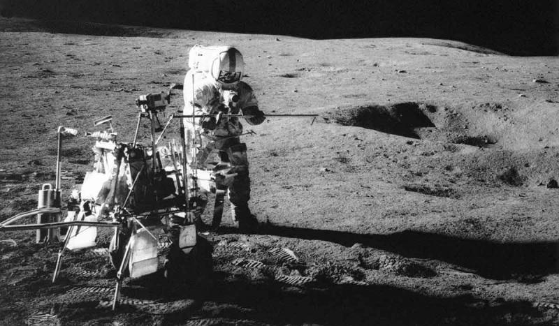 "Astronaut Alan B. Shepard hit a golf ball and Edgar Mitchell threw a ""javelin"" on the moon. They lan"