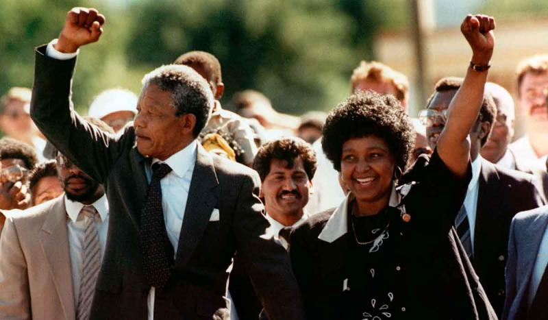 South African resistance leader, Nelson Mandela, was released from prison after more than 27 years.