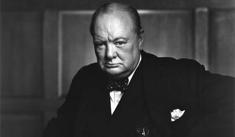 "Winston Churchill delivered his famous Iron curtain speech, ""From Stettin in the Baltic to Trieste i"