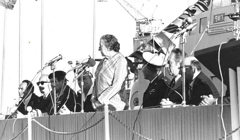 Golda Meir was sworn in as prime minister of Israel.