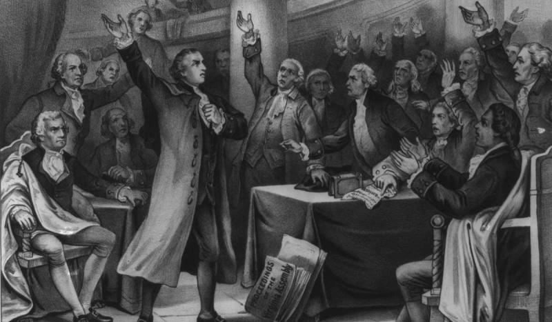 "Patrick Henry declared ""Give me liberty, or give me death."""