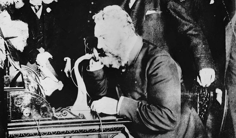 The first long-distance telephone call was made, between Boston and New York.