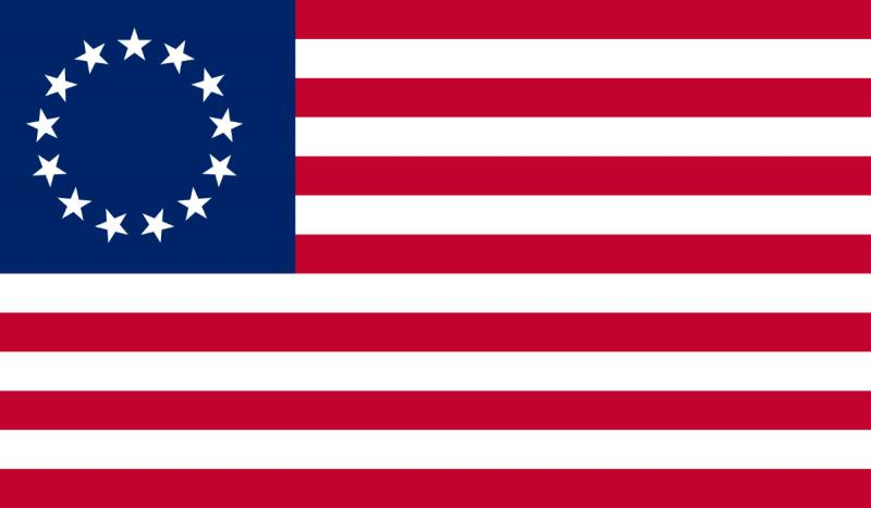 Congress adopted a U.S. flag with one star for each state.