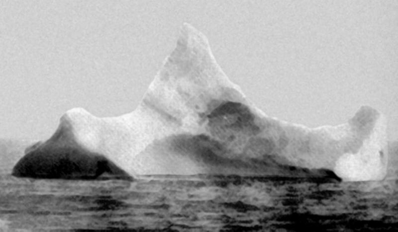 Titanic sank off the coast of Newfoundland on its maiden voyage after it struck an iceberg.