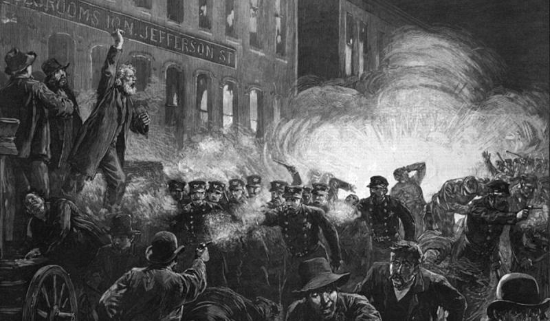 The Haymarket Square riot broke out as a result of a labor demonstration.
