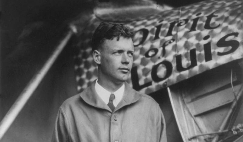 Charles Lindbergh began the first solo nonstop transatlantic flight, departing from Long Island aboa