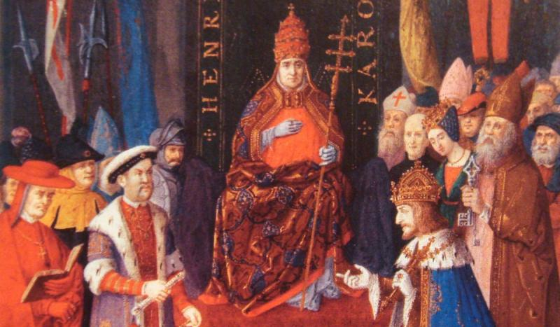 Pope Clement VII excommunicated England's King Henry VIII.