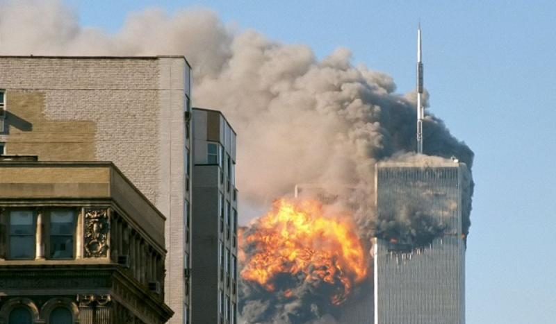 Two hijacked commercial jets were crashed by terrorists into the north and south towers of the World
