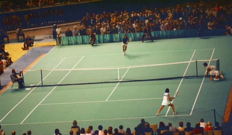 Billie Jean King beat Bobby Riggs in a battle of the sexes tennis match.