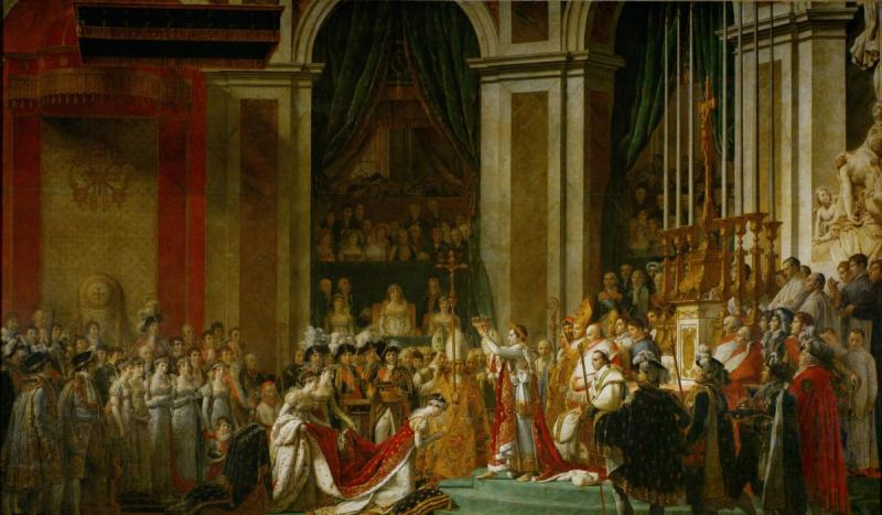 Napoleon Bonaparte was crowned emperor of France in Paris by Pope Pius VII.