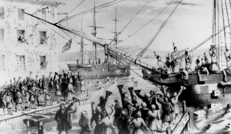 The Boston Tea Party took place.